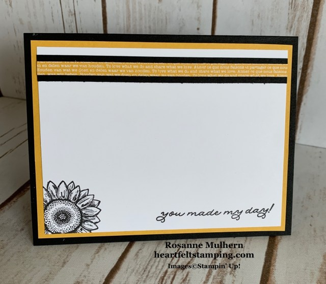 Stampin Up Celebrate Sunflowers Thank You Cards Ideas - Rosanne Mulhern stampinup