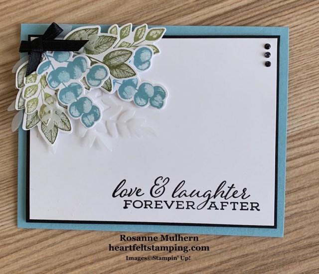 Stampin Up Forever Ferns Anniversary Cards -Rosanne Mulhern stampinup