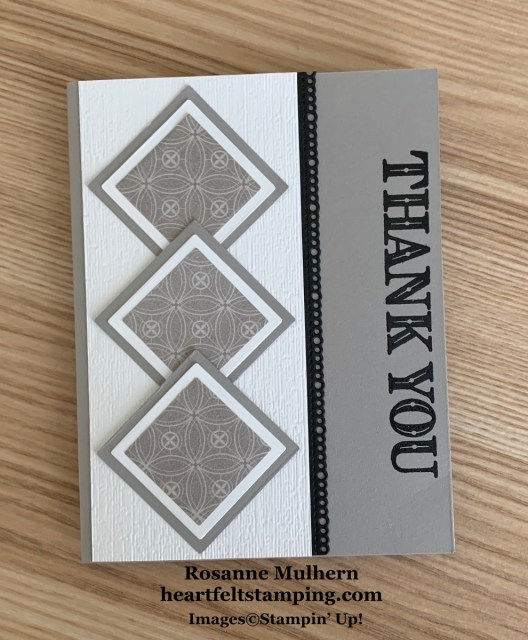 Stampin Up Ornate Thanks Thank You Card Idea- Rosanne Mulhern stampinup