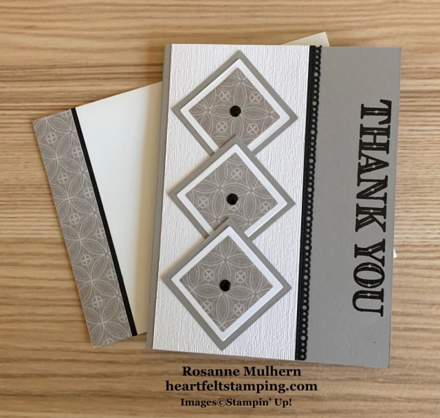 Stampin Up Ornate Thanks Thank You Card Ideas - Rosanne Mulhern stampinup