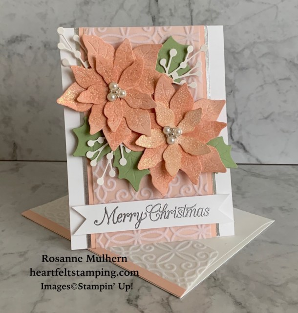Stampin' Up! Poinsettia Petals Christmas Card Idea -Rosanne Mulhern stampinup