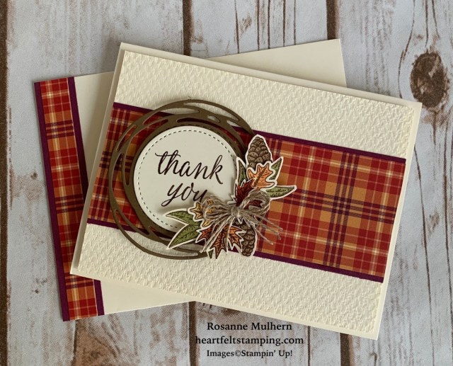 Stampin Up Beautiful Autumn Thank You Notes -Rosanne Mulhern stampinup