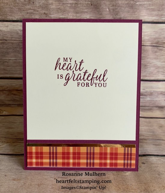 Stampin Up Country Home Fall Card- Rosanne Mulhern stampinup