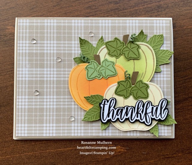 Stampin Up Harvest Hellos Fall Card - Rosanne Mulhern stampinup