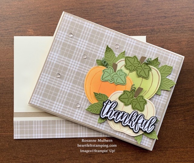 Stampin Up Harvest Hellos Fall Card-Rosanne Mulhern stampinup