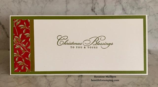 Stampin Up Christmas Slimline Card Ideas - Rosanne Mulhern stampinup