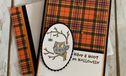 Stampin Up Have a Hoot Halloween Card -Rosanne Mulhern stampinup
