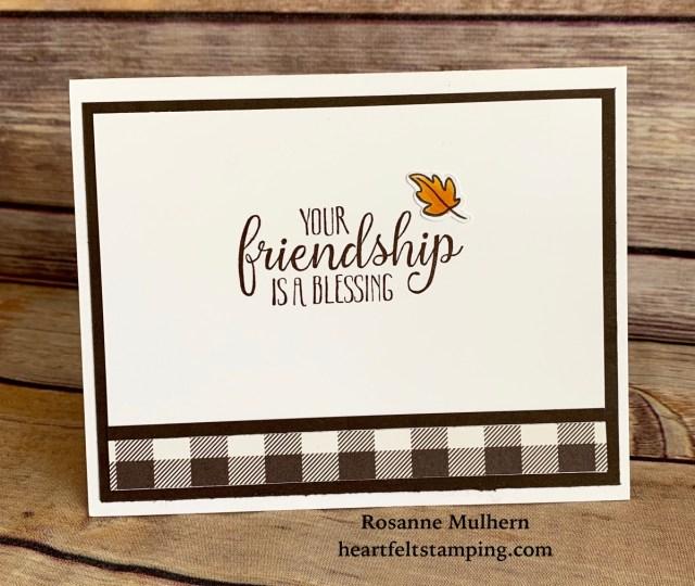 Hello Bluebird Fall Friends Friendship Card Idea -Rosanne Mulhern
