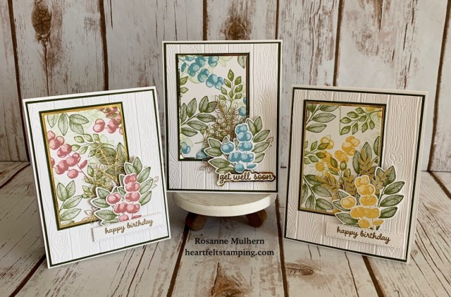 Stampin Up Forever Fern Birthday Card Ideas - Rosanne Mulhern stampinup