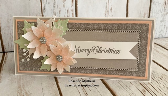 Stampin Up Poinsettia Petals Christmas Card Idea - Rosanne Mulhern
