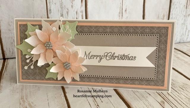 Stampin Up Poinsettia Petals Christmas Card Idea - Rosanne Mulhern