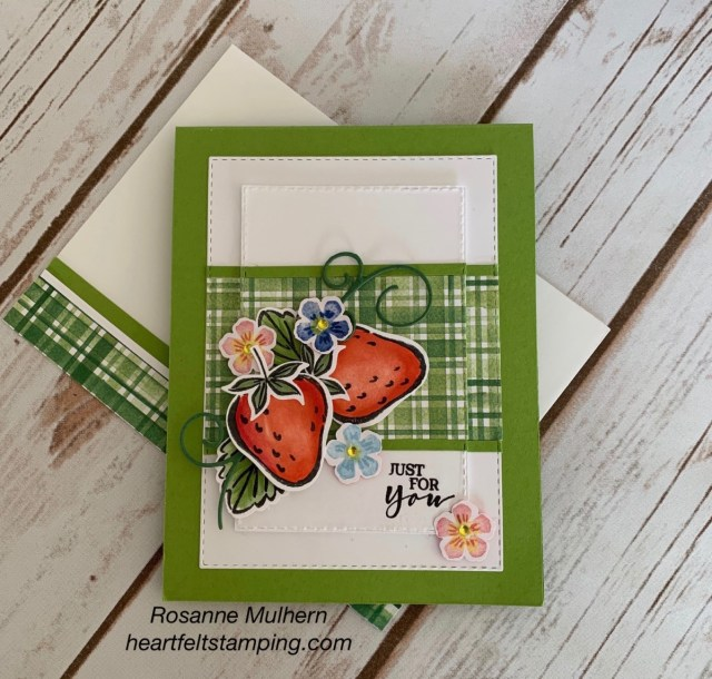 Stampin Up Sweet Strawberry All Occasion Card - Rosanne Mulhern stampinup