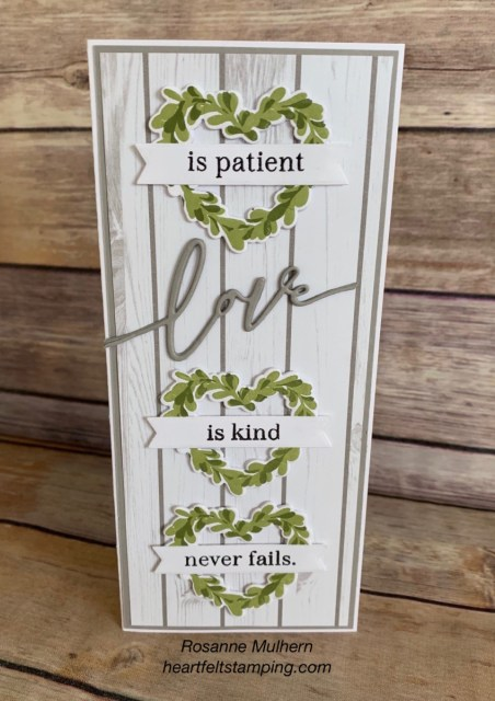 The Greetery Boxwood Wreath Love Card -Rosanne Mulhern