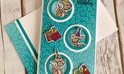 Stampin Up Kangaroo and Company Slimline Birthday Card- Rosanne Mulhern stampinup