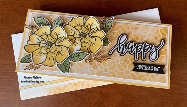 Stampin Up To a Wild Rose Mother's Day Card -Rosanne Mulhern stampinup