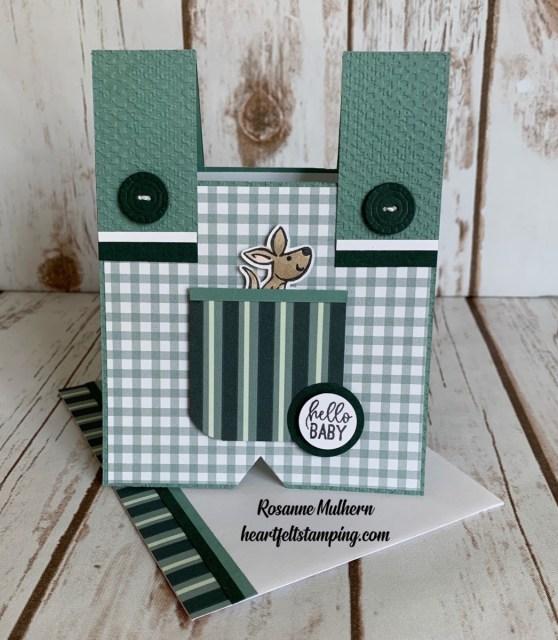 Stampin Up Kangaroo and Company Baby Card Idea -Rosanne Mulhern stampinup
