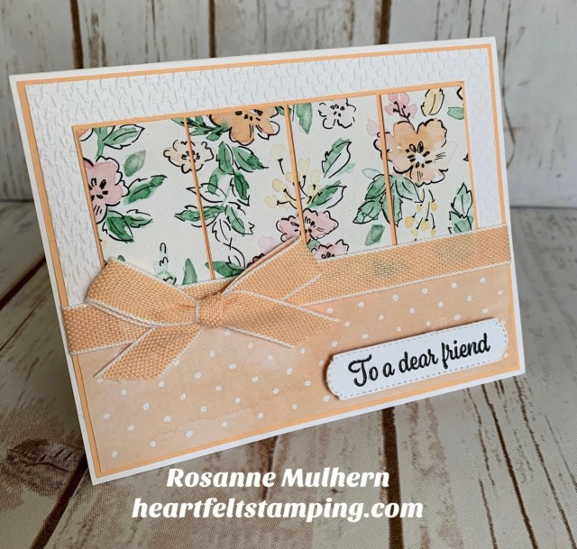 Stampin Up Hand Penned Friendship Card Ideas-Rosanne Mulhern stampinup