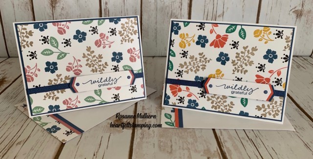 Stampin Up Lovely You Thank You Card Idea - Rosanne Mulhern stampinup