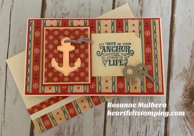 Stampin Up Sail Away Thinking of You Card Idea -Rosanne Mulhern stampinup