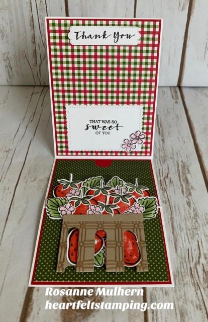 Stampin Up Sweet Strawberry Z Fold Gift Card Holder- Rosanne Mulhern stampinup