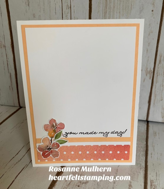 Stampin Up You're a Peach Thank You Card Idea- Rosanne Mulhern stampinup
