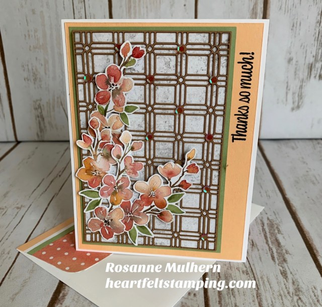 Stampin Up You're a Peach Thank You Card Idea - Rosanne Mulhern stampinup