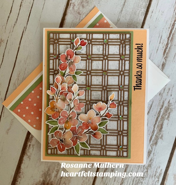 Stampin Up You're a Peach Thank You Card Ideas - Rosanne Mulhern stampinup