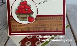 Lawn Fawn Thanks a Bunch Thank You Card - Rosanne Mulhern