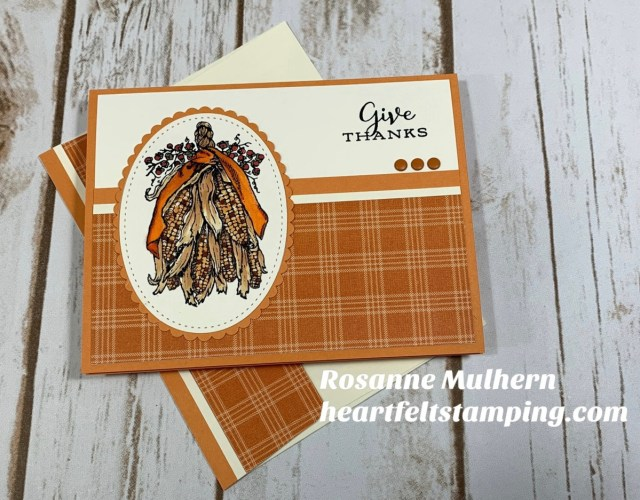 Power Poppy Fortunes of Fall Thanksgiving Card - Rosanne Mulhern