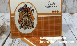 Power Poppy Fortunes of Fall Thanksgiving Card -Rosanne Mulhern