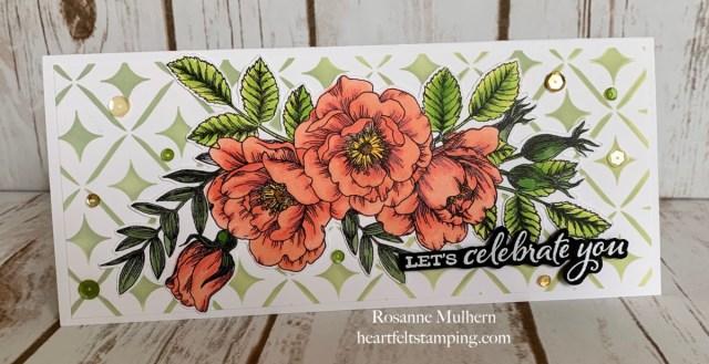 Simon Says Stamps Beautiful Flowers Birthday Card -Rosanne Mulhern