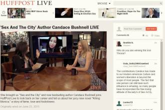 Sex and the City Author Answers My Questions On HuffPost Live - Heart Hackers Club -  - Product design