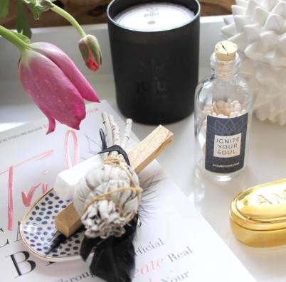 Juju Be Gone kit with sage, Palo Santo and a candle