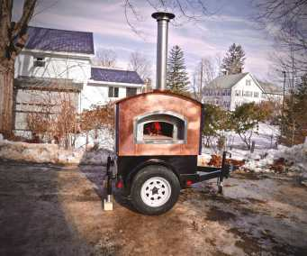 Small Mobile Pizza Oven