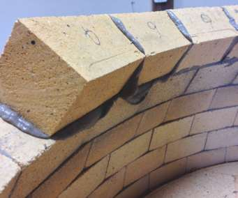 precise compound cuts result in tight mortar joints