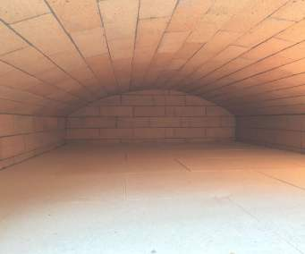 precision built vaulted bread oven
