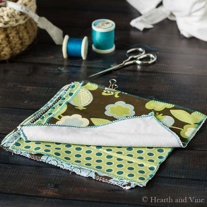 Tutorial: Make reusable dusting cloths from scrap fabric
