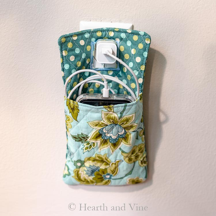 Sewing tutorial: Phone charger pocket