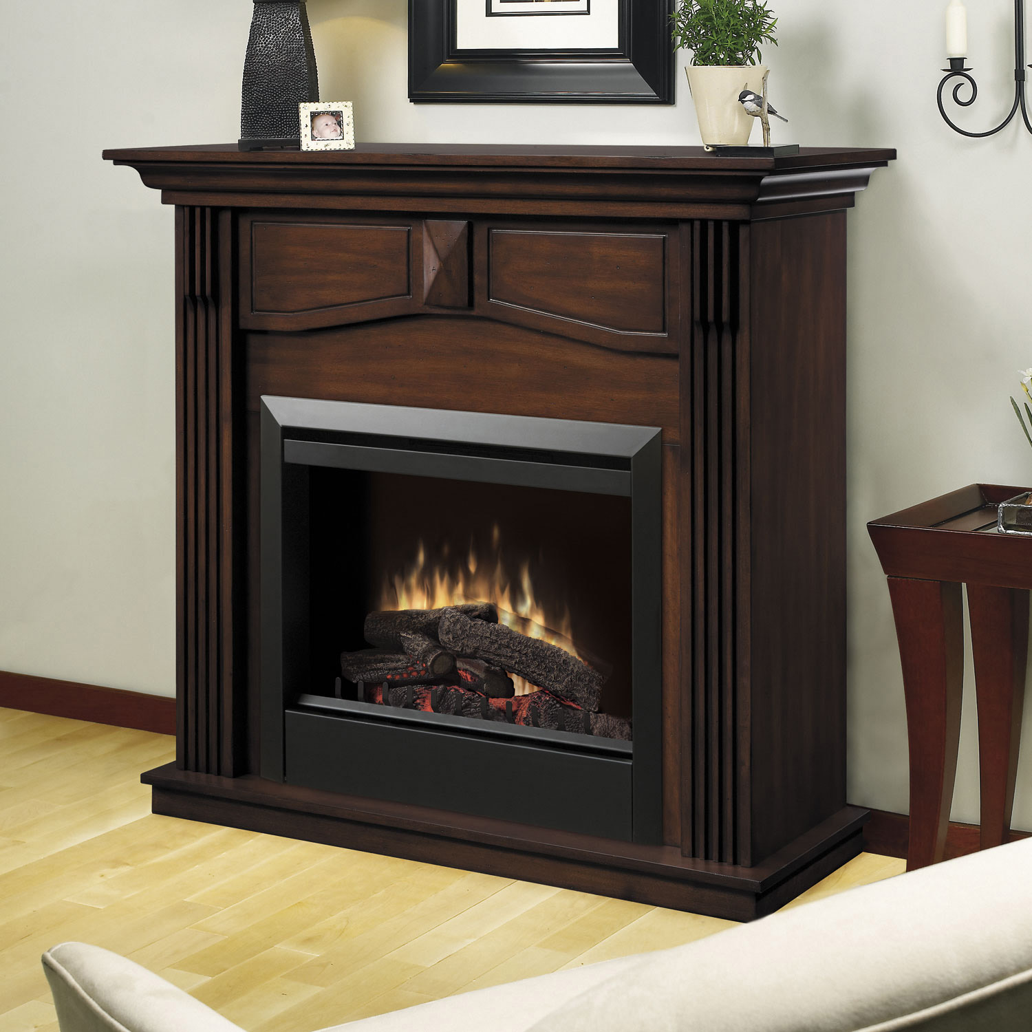 Holbrook Wooden Electric Fireplace Mantle By Dimplex