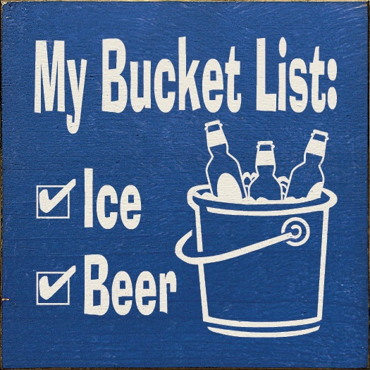 my bucket list custom enamel sign for Father's Day