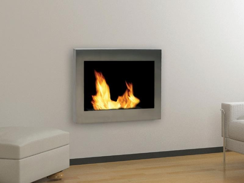 mount mounted stainless fireplace wall gel fuel safety