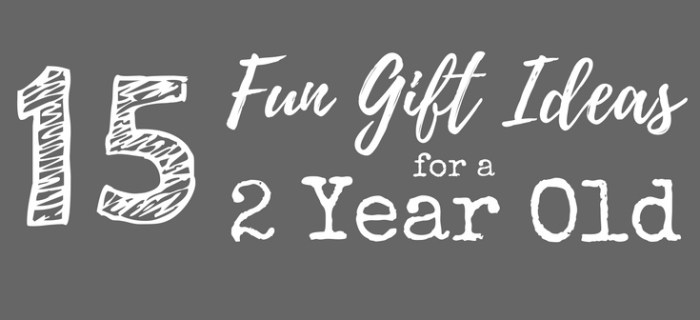 15 Fun Gift Ideas for a 2 Year Old
