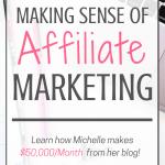 How to Make Money Blogging - Making Sense of Affiliate Marketing