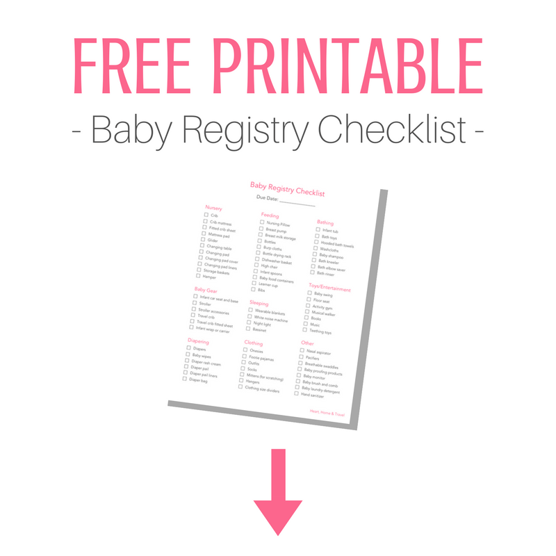 graphic regarding Printable Baby Registry Checklist named Final Kid Registry Specialist Middle, Dwelling Drive