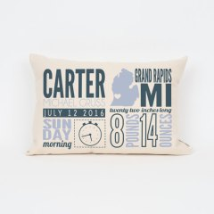 Birth Announcement Pillow personalized baby gift