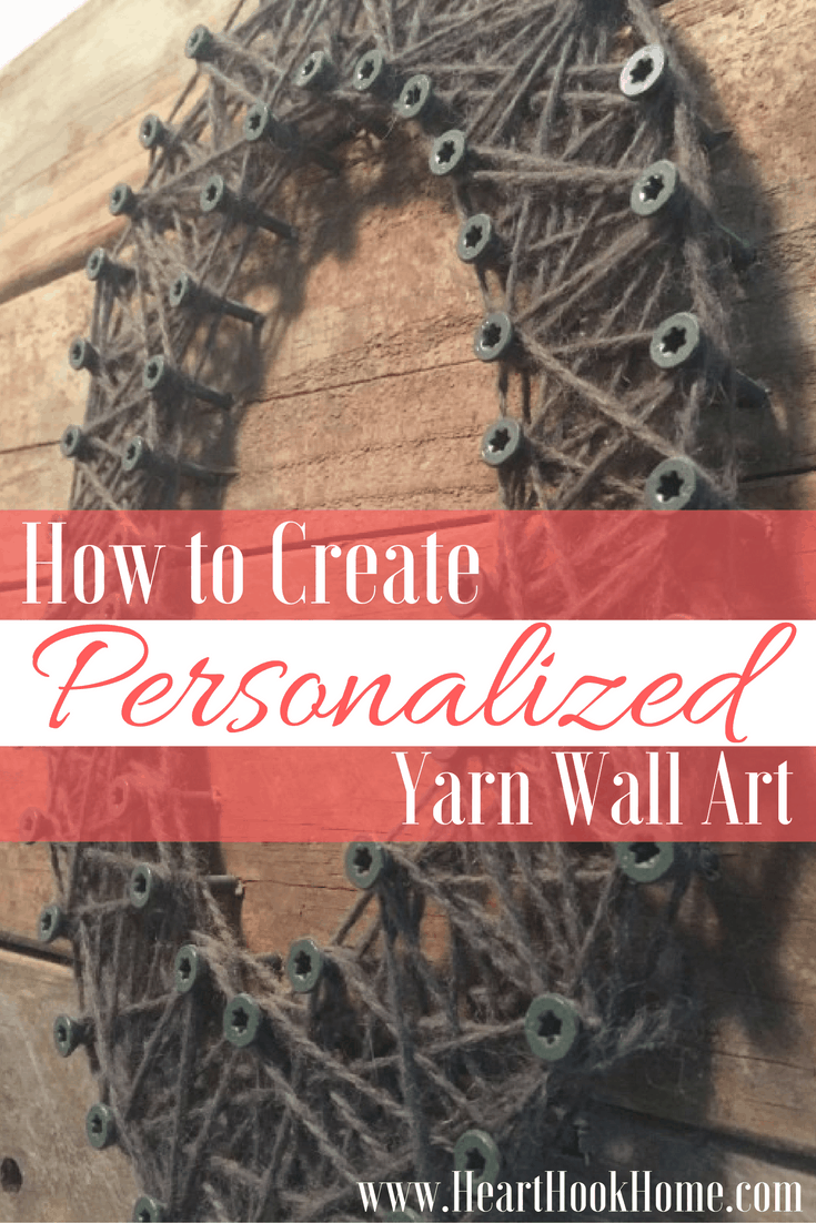 How To Create Yarn Art With A Pallet Or Fence Board And