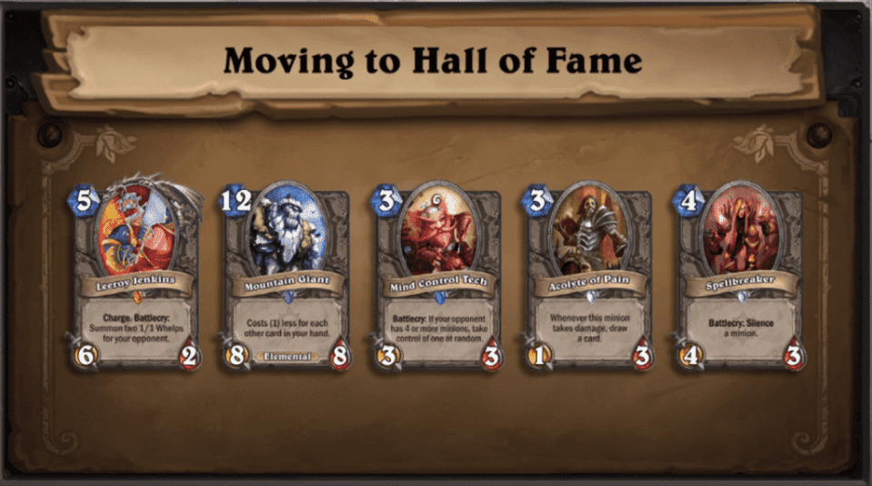 Moving to the Hall of Fame
