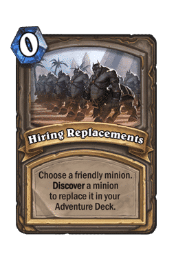 Hiring Replacements