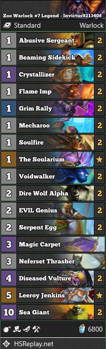 Zoo Warlock #7 Legend - Invictus9213408