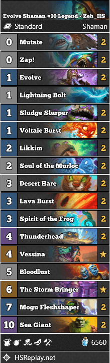 Evolve Shaman #10 Legend - Zeh_HS